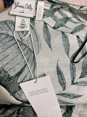 Johanna Ortiz x H&M Palm Leaf Print Linen Dress Size L