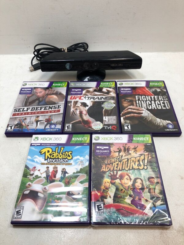 Microsoft Kinect Sensor for Xbox 360 + Five Games + Free Shipping