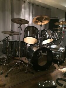 Pearl export 10pc dbl bass drum kit