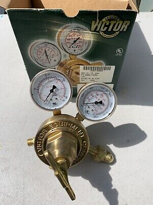 New Victor Vts 450a Compressed Gas Regulator 3000 Psig Brass