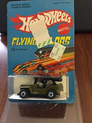Hot Wheels Gun Slinger Blackwall.  Blue Flying Colors Unpunched BP.