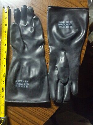 2 Pair Chemical Resistant Gloves, Safety Protective Heavy Duty Indu... New