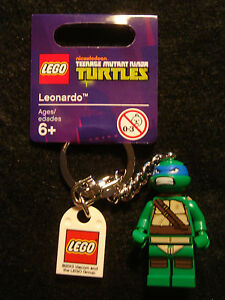 Lego Teenage Mutant Ninja Turtle key chains / rings - Choose the one you want!