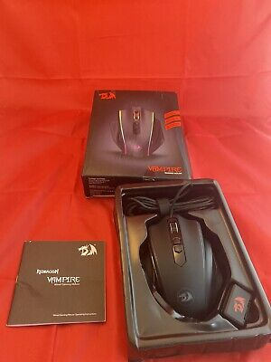 Redragon M720 Vampire RGB Gaming Mouse, 10,000 DPI Adjustable Wired Optical Grip