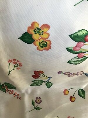 Covington Fruit Fabric Cotton Decorator Weight 2 Yards Waffle Weave White Fruit Decorator