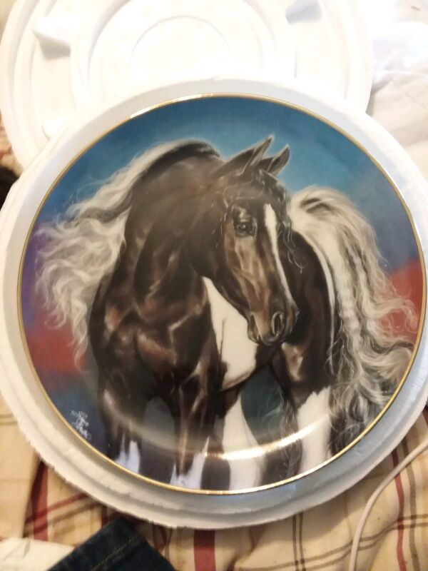 Horse Plate, Spirit Wind, Noble and Free, Susie Morton, Danbury Mint