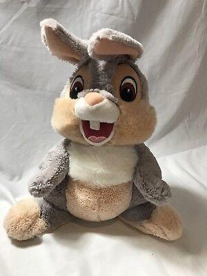 "Disney Parks Thumper Bunny Plush Bambi super soft 14"" seated bunny 17"