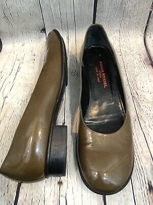 - Sonia Rykiel Paris patent Leather Loafer Slip On Low Heel Shoe 36 1/2 US 6.5-7