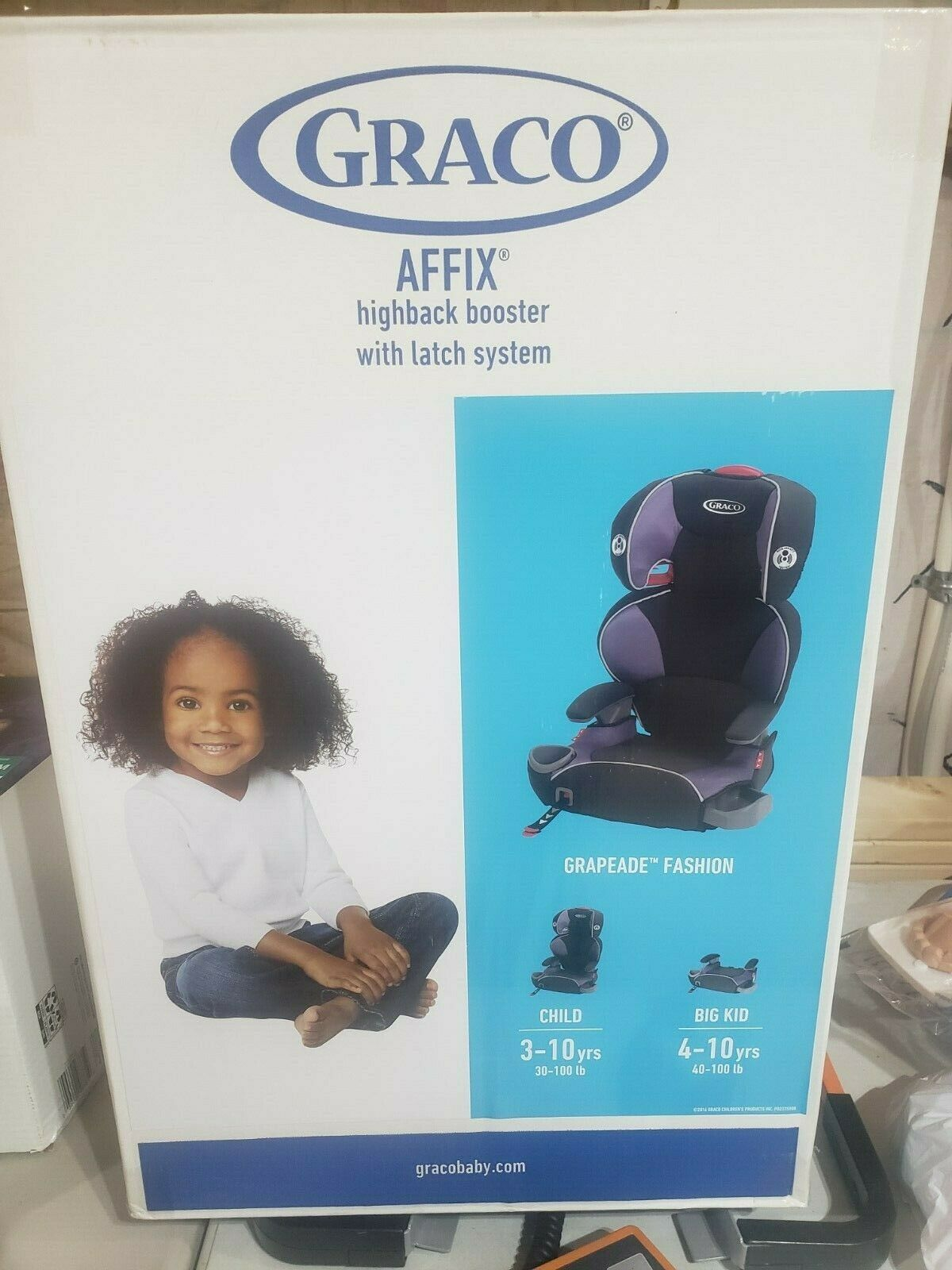 Graco Affix Highback Booster Seat with Latch System, Grapead