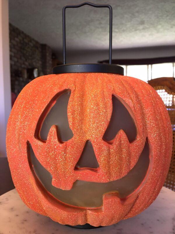 illuminations Halloween Large Pumpkin Glitter Lantern