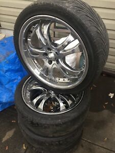 """Set of four 18"""" aftermarket wheels 5x100"""