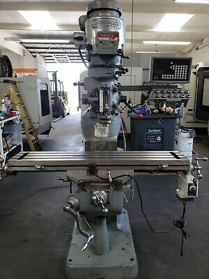 Bridgeport Series I Mill With Sino Sds6-2v Dro Power Feed Table One-shot Lube