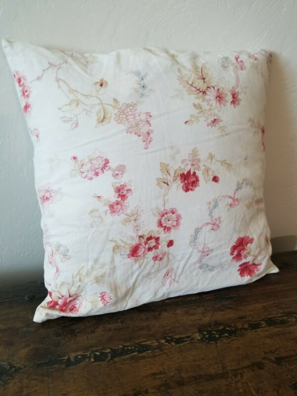 Antique French Floral Pillow with Insert