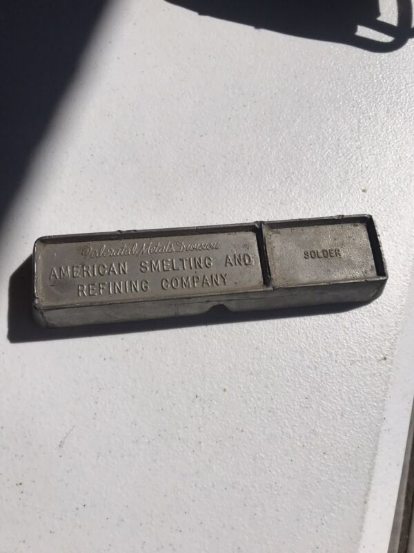 Federated Metals Division American Smelting and Refining Company Solder Bar