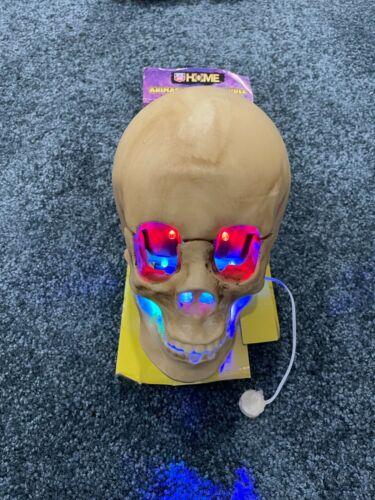 Home Animated Lighted Eyes Talking Skull Head Halloween Prop Rite Aid