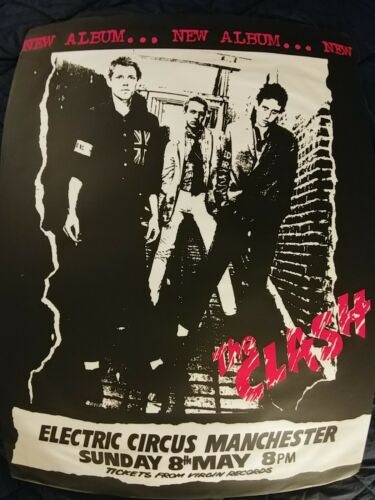 Vintage The Clash Concert Poster 1977 At The ELECTRIC CIRCUS MANCHESTER