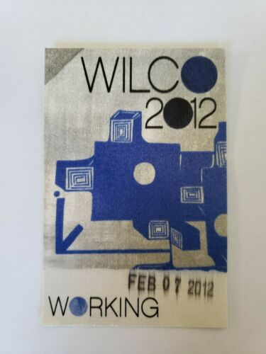 vtg (2012) WILCO Seattle All Access crew BACKSTAGE PASS