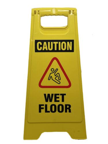 Caution Wet Floor Yellow Folding Sign Commercial Schools Resturaunt Business - $99.00