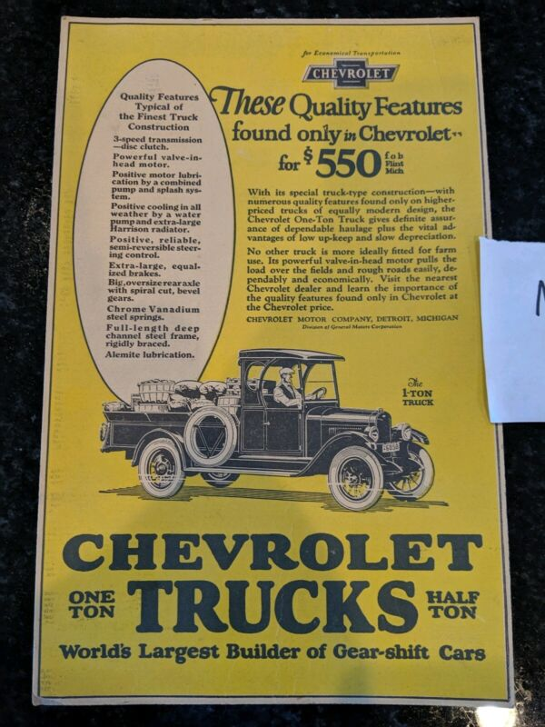 Vintage chevy advertising