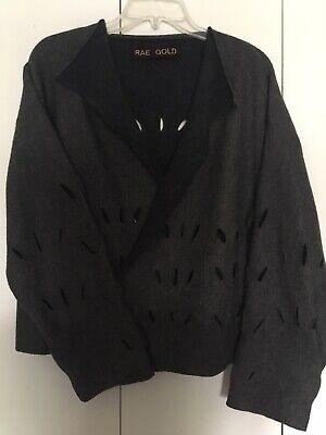RAE GOLD Flashdance Shibori Wool Cardigan Sweater M To L Drapes Long Sleeves Fun](Flashdance Jumper)