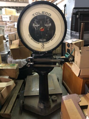 VINTAGE TOLEDO SCALE  500 lbs. Los Angeles PICKUP ONLY