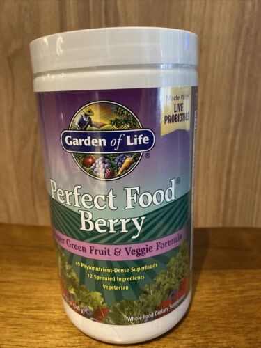Garden of Life Perfect Food Berry Super Green Fruit & Veggie Formula, Exp.05/21