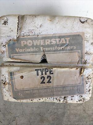 Nos Superior Electric Powerstat Type 22 Variable Autotransformer 0-280v