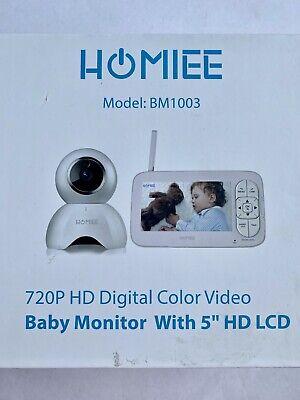 "HOMIEE Video Baby Monitor 720P Digital Camera, 5"" LCD Screen Remote Pan Tilt"