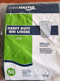 50x Heavy duty 72L rubbish bags