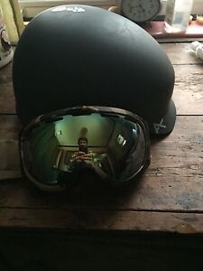 Anon helmet and goggles