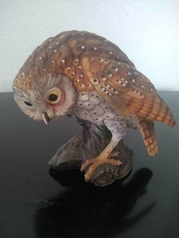 Vintage 1971 Goto Original Hand Painted Porcelain Owl Figurine~Barred Owl?
