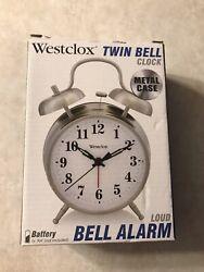 Westclox Big Ben 4 1/2 Twin Bell Alarm Clock Metal 70010A Loud Alarm New