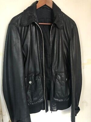 mens versace Collection leather jacket 40/50 medium Real Lamb Leather
