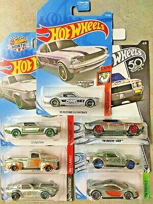7x Hot Wheels ZAMAC Ford Mustang 1949 Ford F1 McLaren Datsun 240Z Camaro Buick