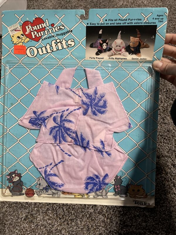 VINTAGE 1986 POUND PURRIES Clothes Hawaiian Outfit