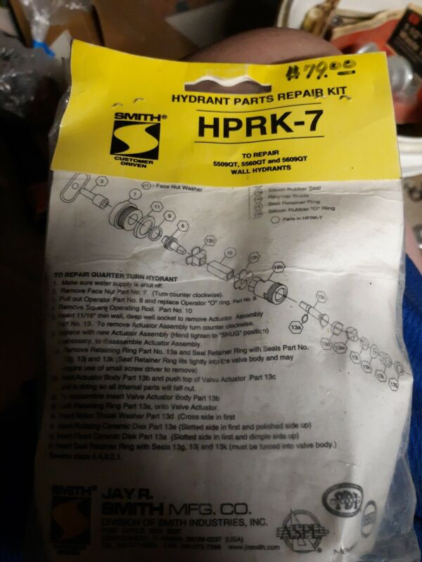 SMITH HPRK-7 HYDRANT REPAIR KITNEW ON BAG