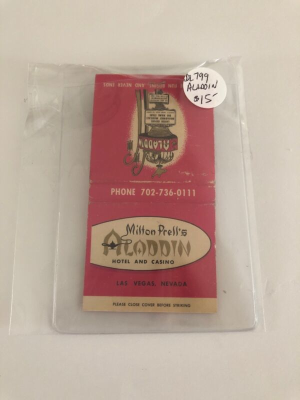 Vintage Las Vegas Matchbook Aladdin Hotel And Casino Unstruck
