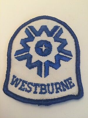 Vintage Westburne Sew On Embroidered Patch Rexel Electric Electrical