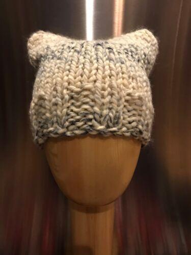 Chunky Hand Knit Unisex Handmade Pebbles Pussy Cat Hat