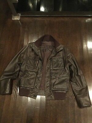 Gap leather bomber aviator jacket size small