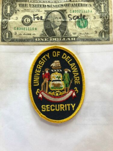 Rare University of Delaware Security Police Patch Un-sewn in great shape