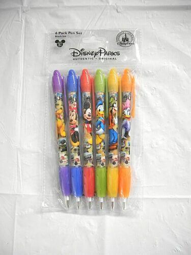 Disney Parks Mickey Minnie & Friends Postcard Photograph 6 Pack Pen Set NEW