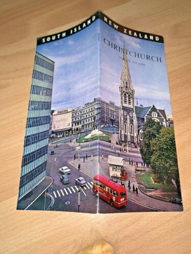 1968 NEW ZEALAND CHRISTCHURCH, SOUTH ISLAND Brochure