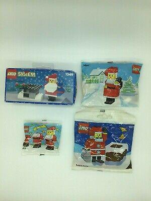 4 vintage Christmas Lego Sets, Sealed, Santa 1549, 1555, 1627 and 1978