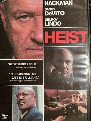 """HEIST - DVD - Gene Hackman, Danny DeVito, Delroy Lindo w/ Special Features """"R"""""""