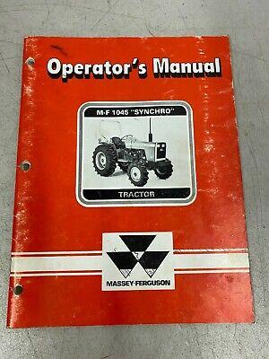 Massey-ferguson Operators Manual M-f 1045 Synchro Tractor