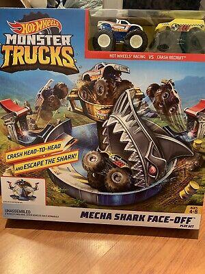Hot Wheels Monster Trucks Mecha Shark Face-Off Playset - BRAND NEW!!!