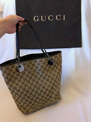 GUCCI Classic GG Tote Bag, preowned but in mint condition