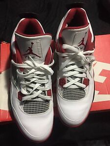 Fire red 4s size 12