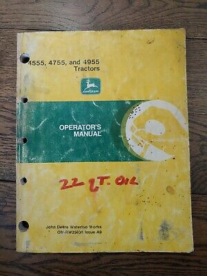 John Deere 4555 4755 4955 Tractor Operators Manual Om-rw25630 Issue A9